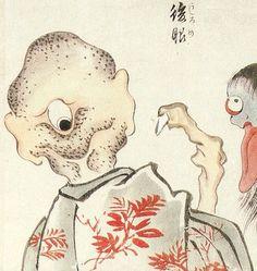 【妖怪】うしろめ demon with eyes on the back of his head f:id:youkaiwiki:20130303154620j:plain