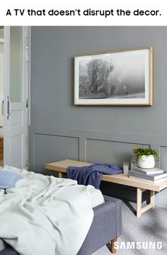 The Frame TV, by Samsung and Yves Behar. Introducing The Frame by Samsung - a UHD TV that transforms into a gallery-like artwork experience wh. Master Bedroom, Bedroom Decor, Framed Tv, Cool Stuff, My Dream Home, Home Projects, Home Goods, Family Room, Sweet Home