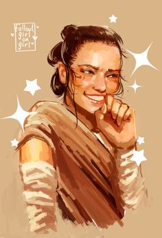 Rey (Daisy Ridley) is SO cute - Star Wars: The Force Awakens