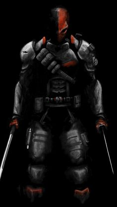 Deathstroke Comics, Deathstroke The Terminator, Deathstroke Mask, Dc Comics Art, Marvel Dc Comics, Thanos Avengers, Vigilante, Iron Man Art, Character Art