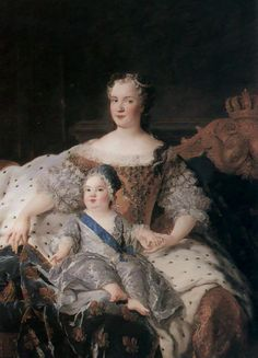 Marie Leszczynska & le dauphin