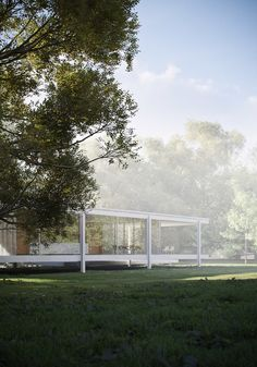 more renderings by Peter Guthrie - Farnsworth House