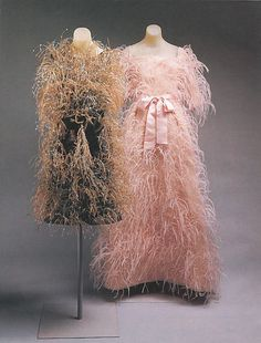 1960s Givenchy dresses ... I can't imagine wearing either one but they are pieces of art