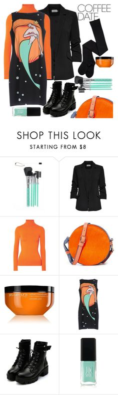 """""""Coffee Date"""" by loves-elephants ❤ liked on Polyvore featuring JoosTricot, Diane Von Furstenberg, shu uemura, Boutique Moschino, JINsoon and CoffeeDate"""