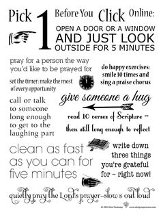 How to Focus in an Age of Distraction: 10 Things to do Before you Click {Printable}