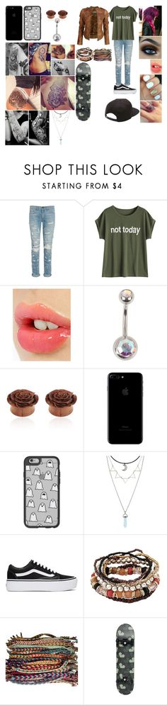 """cuz why not?"" by galaxydragonprincess on Polyvore featuring rag & bone, Charlotte Tilbury, Hot Topic, VIPARO, Casetify, Vans and Ports 1961"