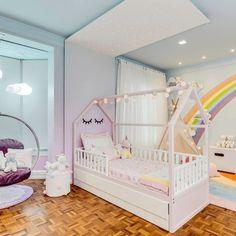 King Bedroom, Baby Bedroom, Baby Room Decor, Nursery Room, Girls Bedroom, Bedroom Furniture, Bedroom Decor, Sister Room, Kawaii Bedroom