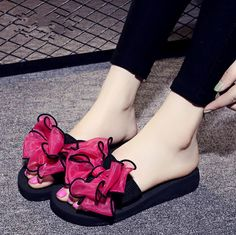 2017 New Summer bohemia Women sandals slippers fashion rainbow leopard  muffin sandals home shoes wedge heels beach sandals-in Slippers from Shoes  on ... ed01fef0c547