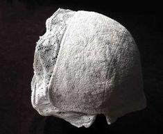 $50 US infant Marseilles quilted bonnet. Original: Piqué de Marseille 18ème siècle