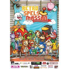 Retro gaming convention fan art