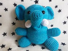 Crochet Elephant Amigurumi 5 inches tall by TheHappyStar on Etsy