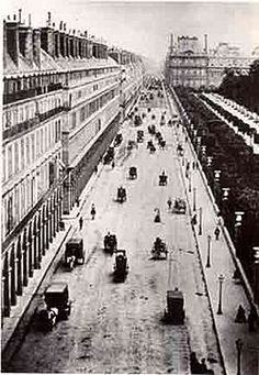 The Rue de Rivoli, shown here in 1855, was the first boulevard built by Haussmann, and it served as the model for the others.