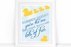 Kids Bathroom Decor - Kids Bathroom Wall Art - Bathroom Duck Art - Rubber Ducky Prints - Yellow Rubber Ducky You're The One - Bath Wall Art - /bathroom-duck-art-print-yellow-rubber - Rubber Ducky Bathroom, Duck Bathroom, Blue Bathroom Decor, Bathroom Wall Art, Bathroom Kids, Kids Bath, Bathrooms, Rubber Ducky Birthday, Duck Art