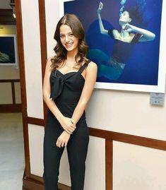 Leyla Tanlar, Alina Boz, Turkish Actors, Unique Fashion, Camisole Top, Jumpsuit, Fashion Outfits, Tank Tops, Celebrities