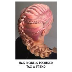 My #in2laced project needs you and your friends, if you're London based. DM or Email me and we can see if we can sort out a sessionTAG YOUR FRIENDS!! Book@HairbyJoel.co.uk - #hbjbraids #hairbyjoel #london #hairstylist #braid #braids #plait #plaits #ribbon #string #lace #pink #pinkhair #longhair #shorthair #style #fashion #pastel #peach #dutch #ribbonbraid #4strandbraid #hair #hairstyle #hbjtextures