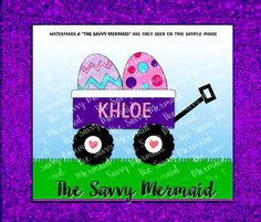 Instant Download of a girly classic, Toy Wagon with Easter Eggs! Add a name! Use with Silhouette or Cricut or as a Printable Iron On Design!  Svg Eps Dxf Png Jpg