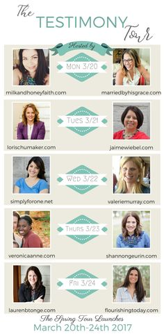 I welcome you to the first ever Testimony Tour! This week my co-host Carmen and I are delighted to introduce you to the testimonies of eight beautiful women of God. We will each be sharing how we came to know Jesus as our personal Lord and Savior. Each of our stories are so different yet