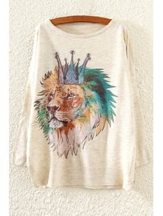 SHARE & Get it FREE | Crowned Lion Pattern SweaterFor Fashion Lovers only:80,000+ Items • New Arrivals Daily Join Zaful: Get YOUR $50 NOW!