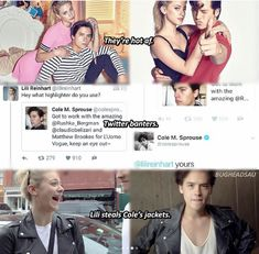 Bughead Riverdale, Riverdale Funny, Riverdale Memes, Riverdale Betty And Jughead, Lili Reinhart And Cole Sprouse, Cole Sprouse Jughead, Riverdale Cole Sprouse, Biology Classroom, Lily Cole