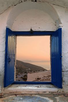Through the Door - view from the monastery, Sikinos island, Cyclades