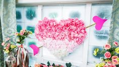 Maria Provenzano is making Valentine's Day decor out of foam core and faux florals. Valentines Day Treats, Valentine Day Crafts, Be My Valentine, Holiday Crafts, Valentine Ideas, Holiday Decor, Home And Family Crafts, Home And Family Hallmark, Hallmark Homes