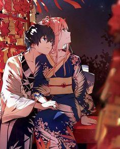 Hiro and Zero Two sweetpost 💙❤ Otaku Anime, Anime Art, Mago Anime, Darling In The Franxx, Waifu Material, Zero Two, Best Waifu, Animes Wallpapers, Sword Art Online