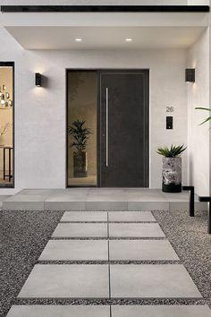 Like sandstone: tiles from - Gentle, modern, elegant. The Bernina outdoor tile Like sandstone: tiles from - Gentle, modern, elegant. The Bernina outdoor tile series from & Boch # - Modern Entrance Door, House Entrance, Apartment Entrance, Garden Entrance, Door Design, Exterior Design, Modern Exterior, Landscape Design, Garden Design
