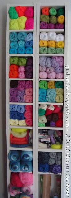 Billy Bookcase Yarn Storage. Bright and Easy Way to See Your Entire Stash.