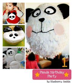 panda birthday party and diy pinata
