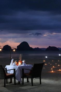 Dine on the beach at Amari Vogue, Krabi