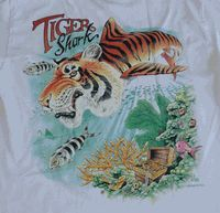 Tiger Shark Airplane Tee Shirt - Close-out Special