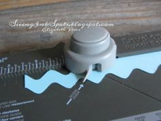 Make rick rack with the Envelope Punch Board ~ how-to by Elizabeth Price, Seeing Ink Spots