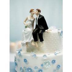 Tortenfigur Brautpaar Kantenhocker Porzellan Tortenaufsatz Hochzeit