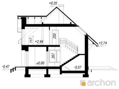 Dom w lucernie 7 Micro House, Floor Plans, Projects, Floor Plan Drawing, House Floor Plans