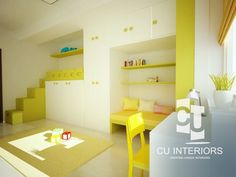 Návrh detskej izby CU-Interiors - Ideas of children room Home Room Design, House Rooms, Room Interior, Kids Room, Interiors, Architecture, Children, Bed, Furniture