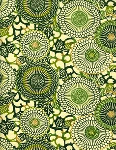 Groovy green we love patterns and we have this one in stock, yeah! http://nauli.de