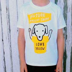 Items similar to Tour De France Children s Cycling T-shirt FUTURE YELLOW  JERSEY on Etsy 0f46f508a