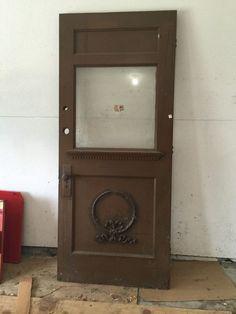 Architectural Salvage Antique Glass Wood Door