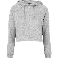 TOPSHOP Sporty Pajama Hoodie found on Polyvore featuring tops, hoodies, sweaters, shirts, jackets, grey, hooded sweatshirt, gray hoodie, hooded pullover and shirt hoodies