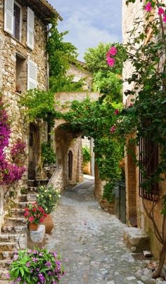 This item is unavailable - Paint by Numbers - OurPaintAddictions Beautiful Streets, Beautiful Buildings, Beautiful Landscapes, Beautiful World, Beautiful Gardens, Beautiful Places, Beautiful Pictures, Ancient Roman Houses, Italy Landscape