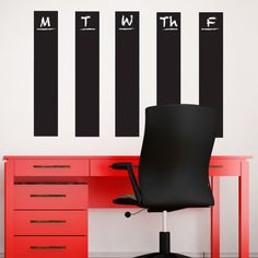 Room Accessories #decor // Easy Stripes Chalkboard