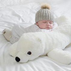 Polar Bear Baby Pillow