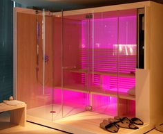New Modern Design Sauna with Shower The new and amazing Inipi Bathroom from Duravit is a affected artist bathroom with shower. Duravit, a G.