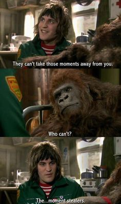 """I love Noel of the first season of the Boosh—the sweetness with the slight element of pissy cheekiness.""""] And this phase between his 'baby Boosh' look and him finding what was to become his look, the one that stuck. British Humor, British Comedy, The Mighty Boosh, Mighty Mighty, Julian Barratt, Noel Fielding, Through Time And Space, Comedy Show, Funny People"""