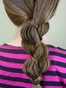 "Super easy ""braid in a braid"" hairstyle"