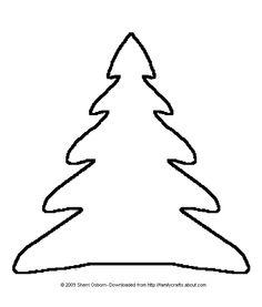 Felt Advent Christmas Tree Pattern: Print Out This Christmas Tree Design