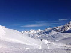Super Verhältnisse zum Skifahren bieten sich am Schnalstaler Gletscher! Viel Schnee, viel Sonne, perfekte Pisten und leckeres Essen... :)