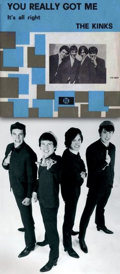 """/The Kinks """"You Really Got Me"""" 1965 - 45 rpm Record Sleeve Rock And Roll Bands, Rock Bands, Rock N Roll, I Love Music, Music Is Life, Good Music, Lps, Iconic Album Covers, You Really Got Me"""