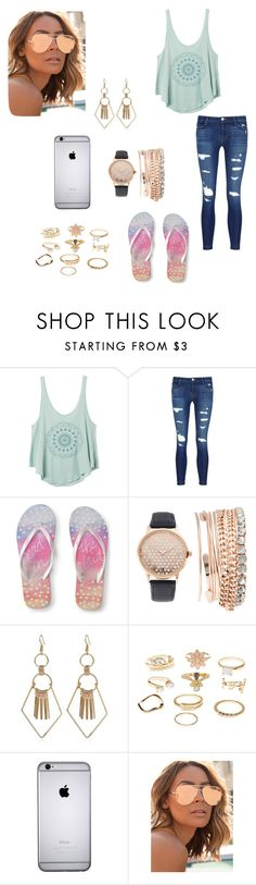 """""""SUMMER"""" by hello-mizu on Polyvore featuring RVCA, J Brand, Aéropostale, Jessica Carlyle, Charlotte Russe and Quay"""
