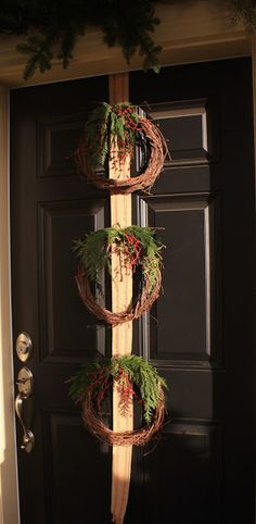 Inspired Nesting: Dollar Store wreaths